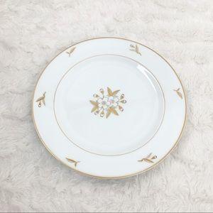 Fukagawa Arita WhiteFlower GoldLeaf 6 salad plates